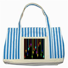 Plug In Striped Blue Tote Bag by Valentinaart