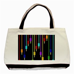 Plug In Basic Tote Bag (two Sides) by Valentinaart