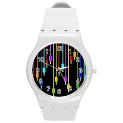 Plug In Round Plastic Sport Watch (m) by Valentinaart