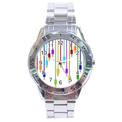 Plug In Stainless Steel Analogue Watch by Valentinaart