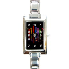 Energy Of The Sound Rectangle Italian Charm Watch by Valentinaart