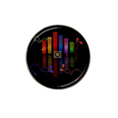 Energy Of The Sound Hat Clip Ball Marker (4 Pack) by Valentinaart