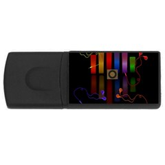 Energy Of The Sound Usb Flash Drive Rectangular (4 Gb) by Valentinaart