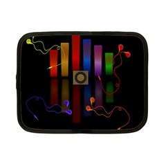 Energy Of The Sound Netbook Case (small)  by Valentinaart