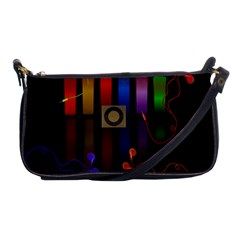 Energy Of The Sound Shoulder Clutch Bags by Valentinaart
