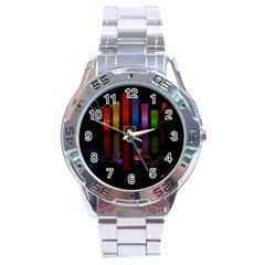 Energy Of The Sound Stainless Steel Analogue Watch by Valentinaart