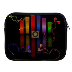 Energy Of The Sound Apple Ipad 2/3/4 Zipper Cases by Valentinaart