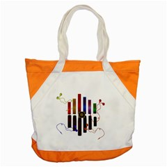 Energy Of The Sound Accent Tote Bag by Valentinaart