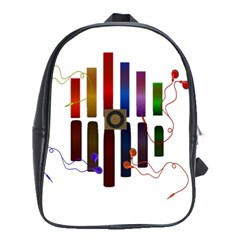 Energy Of The Sound School Bags(large)  by Valentinaart