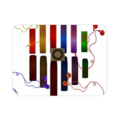 Energy Of The Sound Double Sided Flano Blanket (mini)  by Valentinaart