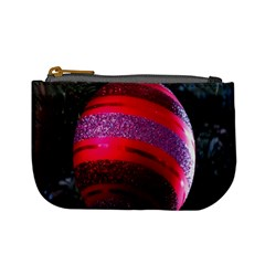 Glass Ball Decorated Beautiful Red Mini Coin Purses by Nexatart