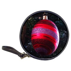 Glass Ball Decorated Beautiful Red Classic 20 Cd Wallets by Nexatart