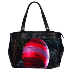 Glass Ball Decorated Beautiful Red Office Handbags (2 Sides)  by Nexatart