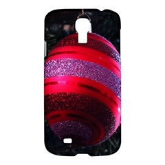Glass Ball Decorated Beautiful Red Samsung Galaxy S4 I9500/i9505 Hardshell Case by Nexatart