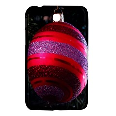 Glass Ball Decorated Beautiful Red Samsung Galaxy Tab 3 (7 ) P3200 Hardshell Case  by Nexatart