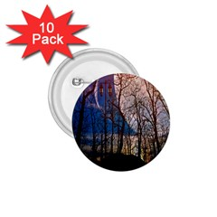 Full Moon Forest Night Darkness 1 75  Buttons (10 Pack) by Nexatart