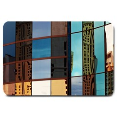 Glass Facade Colorful Architecture Large Doormat