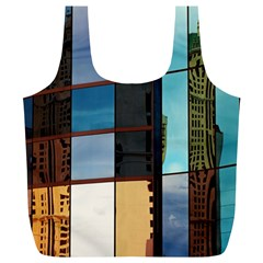 Glass Facade Colorful Architecture Full Print Recycle Bags (l)  by Nexatart