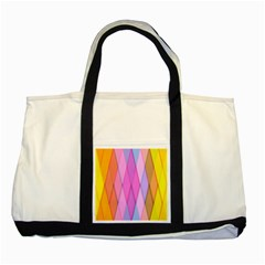 Graphics Colorful Color Wallpaper Two Tone Tote Bag by Nexatart