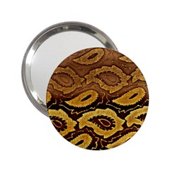 Golden Patterned Paper 2 25  Handbag Mirrors by Nexatart