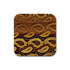 Golden Patterned Paper Rubber Coaster (square)