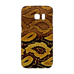 Golden Patterned Paper Galaxy S6 Edge by Nexatart