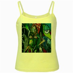 Graffiti Art Urban Design Paint Yellow Spaghetti Tank