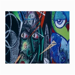 Graffiti Art Urban Design Paint Small Glasses Cloth (2 Side) by Nexatart