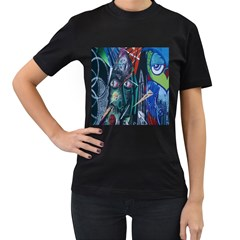Graffiti Art Urban Design Paint Women s T Shirt (black) by Nexatart
