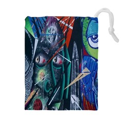 Graffiti Art Urban Design Paint Drawstring Pouches (extra Large) by Nexatart