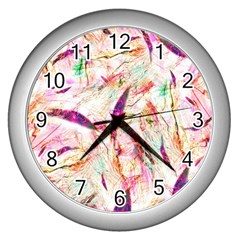 Grass Blades Wall Clocks (silver)  by Nexatart