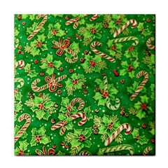 Green Holly Tile Coasters