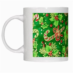 Green Holly White Mugs