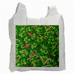 Green Holly Recycle Bag (one Side) by Nexatart