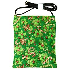 Green Holly Shoulder Sling Bags by Nexatart