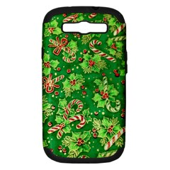 Green Holly Samsung Galaxy S Iii Hardshell Case (pc+silicone) by Nexatart