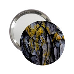 Grey Yellow Stone  2 25  Handbag Mirrors