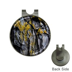 Grey Yellow Stone  Hat Clips With Golf Markers by Nexatart