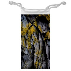 Grey Yellow Stone  Jewelry Bag by Nexatart