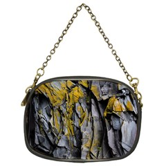Grey Yellow Stone  Chain Purses (one Side)  by Nexatart