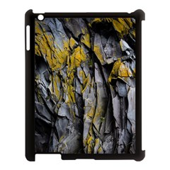 Grey Yellow Stone  Apple Ipad 3/4 Case (black)