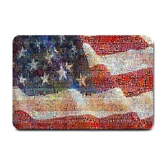 Grunge United State Of Art Flag Small Doormat  by Nexatart