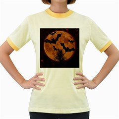 Halloween Card Scrapbook Page Women s Fitted Ringer T Shirts by Nexatart