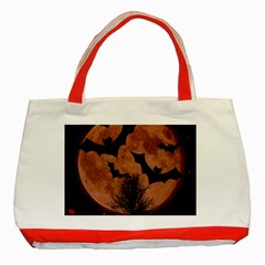 Halloween Card Scrapbook Page Classic Tote Bag (red) by Nexatart