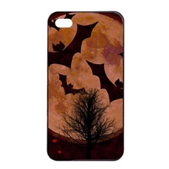Halloween Card Scrapbook Page Apple Iphone 4/4s Seamless Case (black) by Nexatart