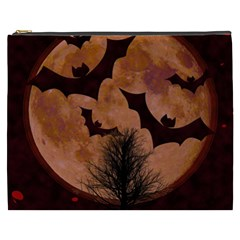 Halloween Card Scrapbook Page Cosmetic Bag (xxxl)  by Nexatart