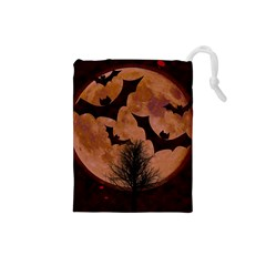 Halloween Card Scrapbook Page Drawstring Pouches (small)  by Nexatart