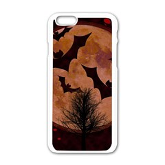 Halloween Card Scrapbook Page Apple Iphone 6/6s White Enamel Case by Nexatart