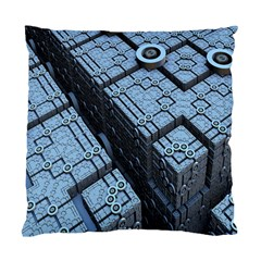 Grid Maths Geometry Design Pattern Standard Cushion Case (two Sides) by Nexatart