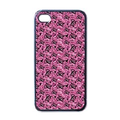 Floral Pink Collage Pattern Apple Iphone 4 Case (black) by dflcprints